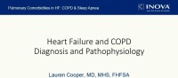 Pulmonary Comorbidities of HF: COPD and Sleep Apnea